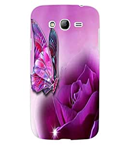 ColourCraft Rose and Butterfly Design Back Case Cover for SAMSUNG GALAXY GRAND NEO I9060