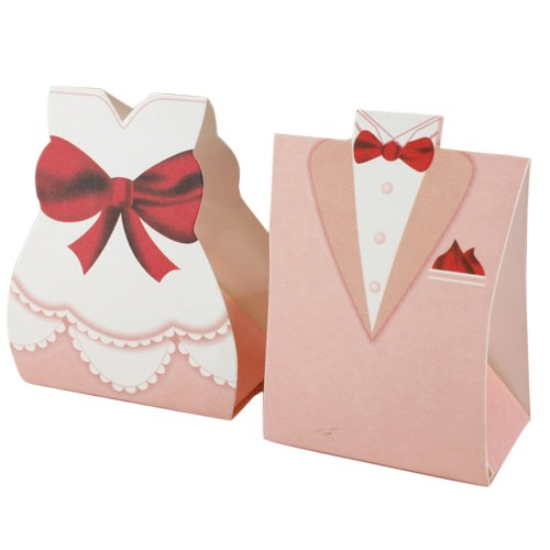 Wedding Gift Boxes Amazon : ... Bride Groom Tuxedo Dress Gown Wedding Favor Candy Box Gift New eBay