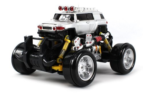Toyota FJ Cruiser Electric RC Drift Truck 1:18 Scale 4 Wheel Drive Ready To Run RTR, Working Spring