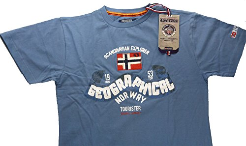 geographical-norway-t-shirt-maniche-corte-uomo-jeans-large