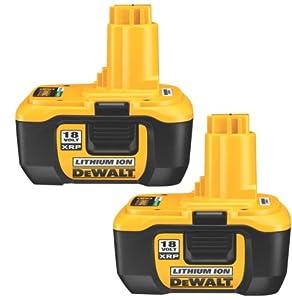 DEWALT DC9180-2 18-Volt XRP Lithium-Ion Batteries, 2-Pack: Amazon