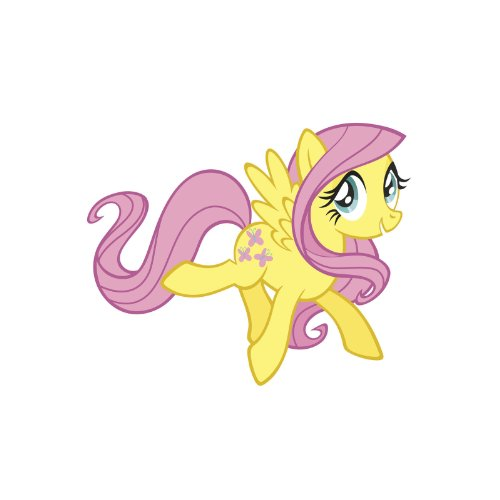 Roommates Fluttershy Peel And Stick Giant Wall Decals front-1067416