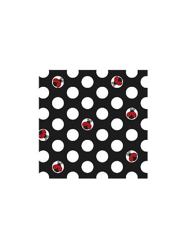 Creative Converting Unisex Adult LadyBug Fancy Beverage Napkins Black Medium