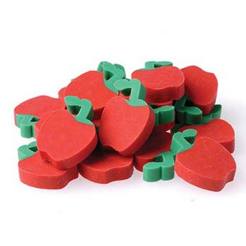 "US Toy - Miniature 3/4"" Apple Erasers(Pkg 144), Ages 3 Years & Up"