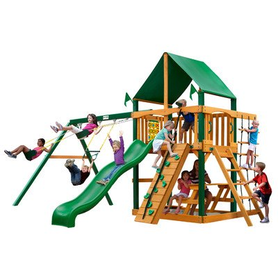 Gorilla Playsets Chateau Deluxe Wood Swing Set