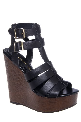 Chinese Laundry Jump Drive High Wedge Gladiator Ankle Strap Sandal