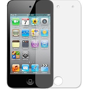 3-Pack Clear Screen Protectors for Apple iPod Touch 4 (4th Generation)