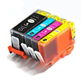 Set of 4 920XL (920 XL) High Capacity Black Cyan Magenta & Yellow Compatible Ink Cartridges (WITH CHIP AND WILL SHOW INK LEVELS) for HP Officejet 6000 6500 7000 6500A 6500A Plus 7500A wf Printers