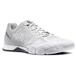 Reebok Women\'s Crossfit Speed Tr Cross-Trainer Shoe, Steel/White/Black, 9.5 M US