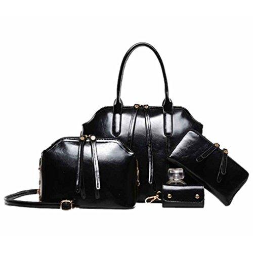 2014 New Unique Tassel Shoulder Handbag Messenger Bag Purse Key Bag Joker Black
