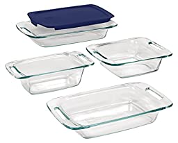 Pyrex 5 Piece Easy Grab Bakeware Set, Clear