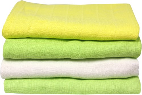 Imse Vimse Organic Cotton Muslin Square Diapers (Kiwi) - 1