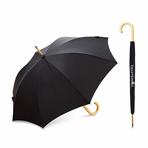 ssby-vintage-wood-fan-clean-solid-color-long-handle-umbrella-art-umbrella-umbrellablack