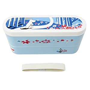 slim 2 cardboard lunch boxes bento blue moomin ranch supplies office products. Black Bedroom Furniture Sets. Home Design Ideas