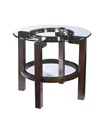 Bassett Mirror Company Oslo Round End Table with Glass Top