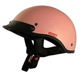 VCAN V531 PINK XL Solid Pink Xtra Large Cruiser Half Helmet