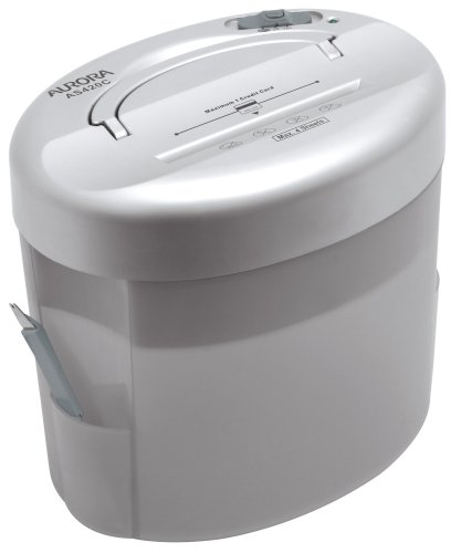 Aurora AS420C Desktop-Style Cross-Cut Paper Shredder with Basket
