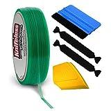 VViViD Knifeless Vinyl Wrap Cutting Tape Finishing Line 10M Plus 3M Toolkit (Blue Applicator Squeegee, Yellow Detailed Squeegee Black Felt Edge Decals) (Tamaño: Blue Squeegee, Ylw Squeegee 2xBlack Felts)