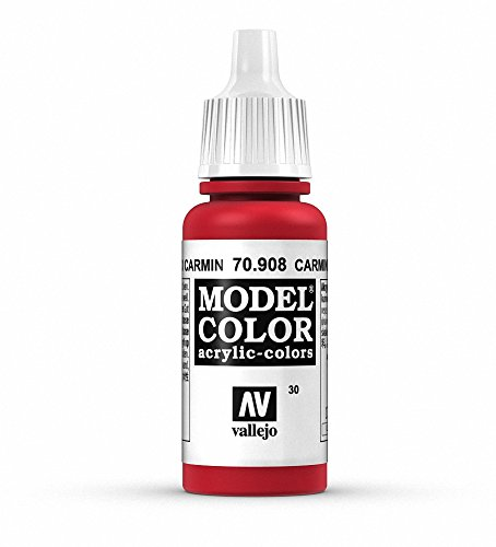 Vallejo Carmine Red Paint, 17ml