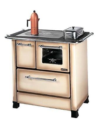 La nordica - Romantica 4.5 - cuisiniere a bois - couleur : cappuccino