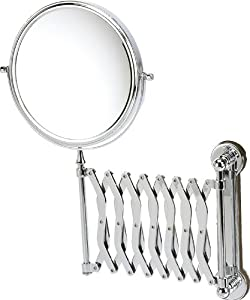 Danielle Wall Mounted Chrome Extending Mirror