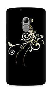 Amez designer printed 3d premium high quality back case cover for Lenovo K4 Note (Abstract Dark 38)