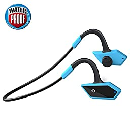 Levin Bluetooth 4.1 Waterproof Sports Earphones (IP66 Waterproof) for Smartphones and Other Bluetooth Smart Cell phones/Devices, Black&Blue