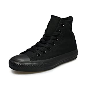 Converse Hi Black Monochrome Unisex Canvas Ankle Trainers M3310-12