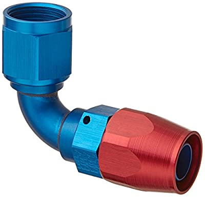 Earl's 809110 Swivel-Seal Blue And Red Anodized Aluminum 90-Degree -10AN Female to -10AN Hose End
