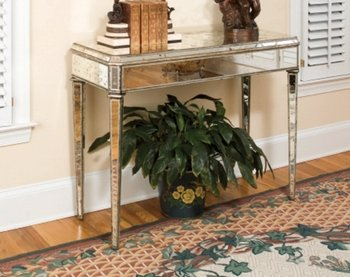 Image of Currey and Company 4201 Console Table, Mirror with Antique Finish (B00456K8JS)