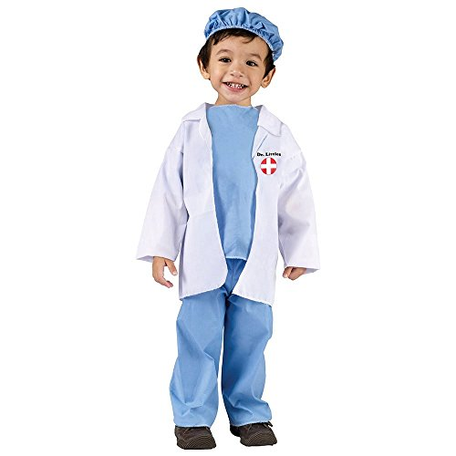 Fun World Costumes Baby's Doctor Toddler Costume, Blue/White