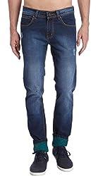 Erdferkel&Wobbegong Men's Jeans (DRACO06--38, Blue, 38)