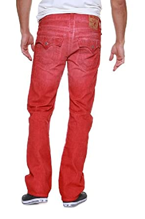 True Religion Straight Leg Jeans RICKY STRAIGHT ME, Color: Red, Size: 28