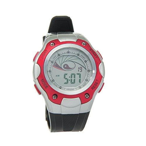 8Years - 1 Digitaluhr Armbanduhr Watch Stoppuhr Wasserdicht Rot