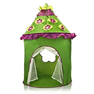 Green Child Canopy Castle Kids Play Tent Hut House Dome by Sky Enterprise USA