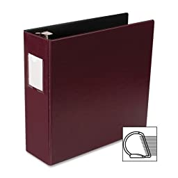 Business Source D-Ring Binder W/Label Holder, Hvy-Dty, 3\