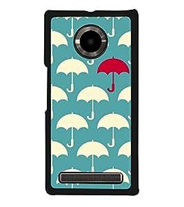 Umbrella Pattern 2D Hard Polycarbonate Designer Back Case Cover for YU Yuphoria :: YU Yuphoria YU5010