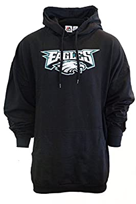 Majestic Mens Philadelphia Eagles Critical Victory Hoodie Big and Tall Sizes