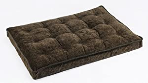 "Bowsers Luxury Dog Crate Mattress, Chocolate Bones, SML 17""x23""x3"" by Bowsers"