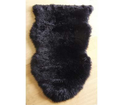BLACK 100% WOOL SHEEPSKIN RUG FOR HOME/BEDROOM/OFFICE/LIVING