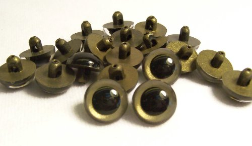 Sassy Bears 13.5mm Pearl Bronze Sew-in Eyes for Bear, Doll, Puppet, Plush Animal and Craft - 10 Pairs