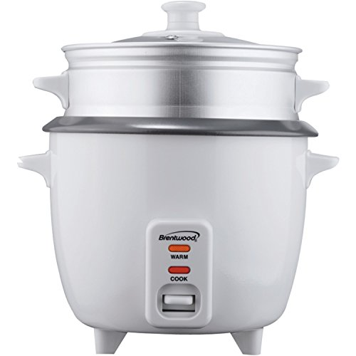 Brentwood Ts-600S 5-Cup Rice Cooker With Steamer front-397412