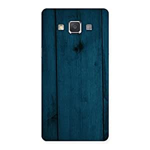 Impressive Blue Royal Wood Back Case Cover for Galaxy Grand Max