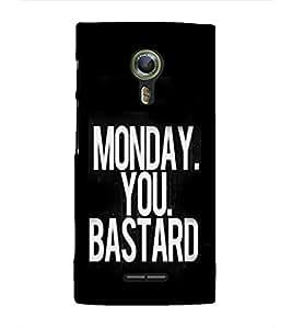 EPICCASE Monday You Bastard Mobile Back Case Cover For Alcatel One Touch Flash 2 (Designer Case)