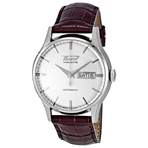 Tissot Men's TIST0194301603101 Heritage Visodate Analog Display Swiss Automatic Brown Watch