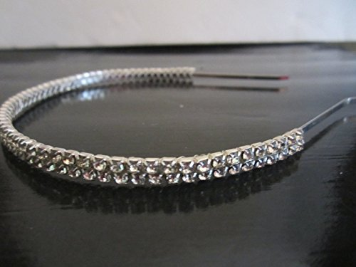 Handmade 2 row Crystal Rhinestone Bridal Headband Wedding Hair Accessories