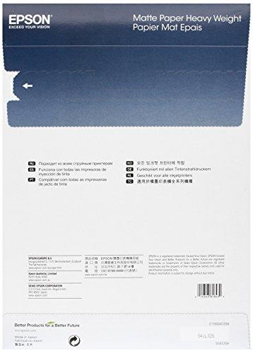 Epson c13s41256 carta fotografica heavy white risma a4 50 for Carta fotografica epson