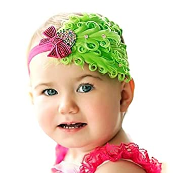 locomo baby headband pink feather locomo baby headband green feather pink
