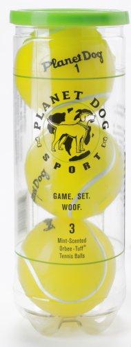Planet Dog Orbee-Tuff Tennis Ball, Yellow, 3-Pack