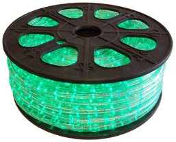 CBconcept 120VLR-150FT-G Green 150-Feet 120-volt 2-Wire 1/2-Inch LED Rope Light, Christmas Lighting, Indoor/Outdoor Rope Lighting